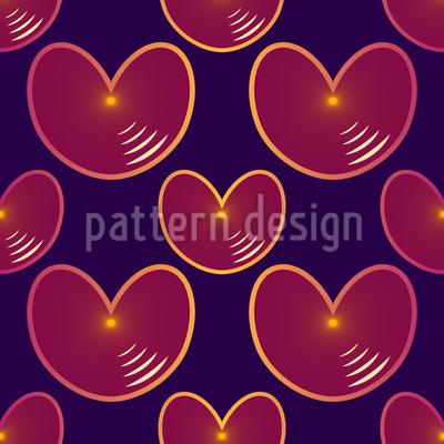 Echo Herzen Nahtloses Muster
