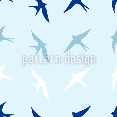 Schwalben Am Himmel Vektor Muster