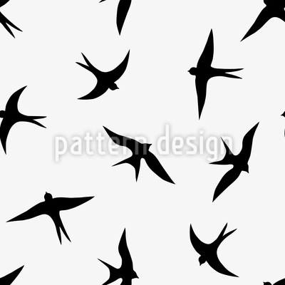 The Flight Of The Swallows Vector Design