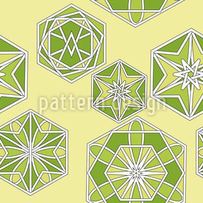 Grünes Marokko Vektor Muster
