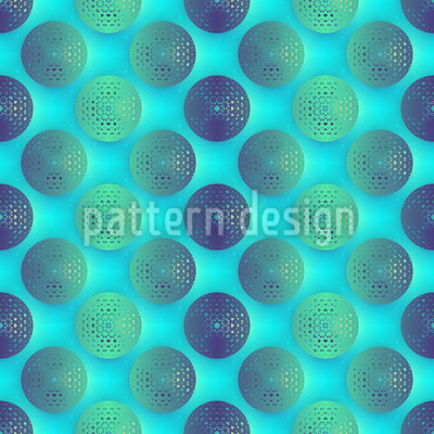 Maritime Basket Circles Pattern Design