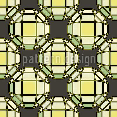 Sonne Scheint Durch Tiffany Glas Nahtloses Muster