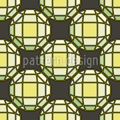 Sun Is Shining Through Tiffany Glass Seamless Pattern