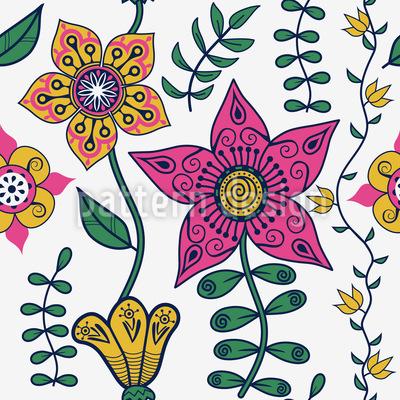 Blumen Des Ostens Rapportiertes Design