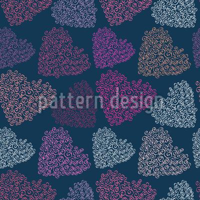 Feine Herzen Der Sehnucht Muster Design