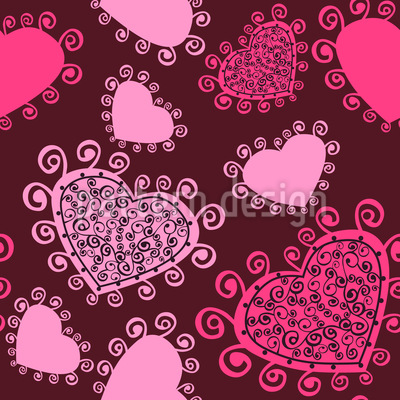Lady Hearts Pattern Design