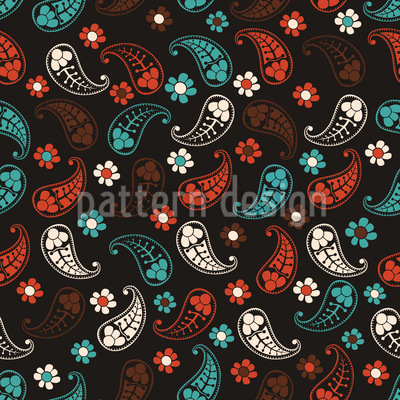 Autumn Of Paisley Vector Pattern