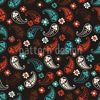 Herbst Der Paisleys Vektor Muster