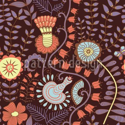 Feenblumen Muster Design