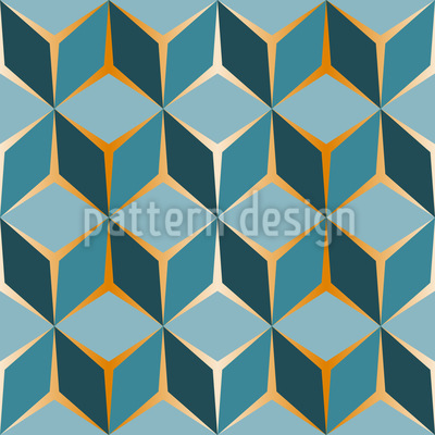 Cube Perspective Repeating Pattern
