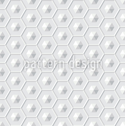 Raumschiff Hexagon Vektor Ornament