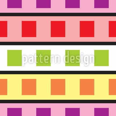 Farbfilm Geometrie Rapportiertes Design