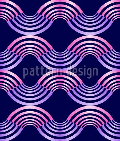 Metall Wellen Nahtloses Vektor Muster