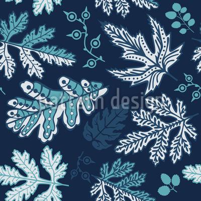 Sanfter Blätterfall Vektor Muster