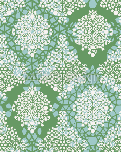 Spring Crystals Seamless Vector Pattern