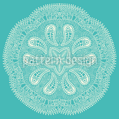 A Cool Touch Of Doily Vector Pattern