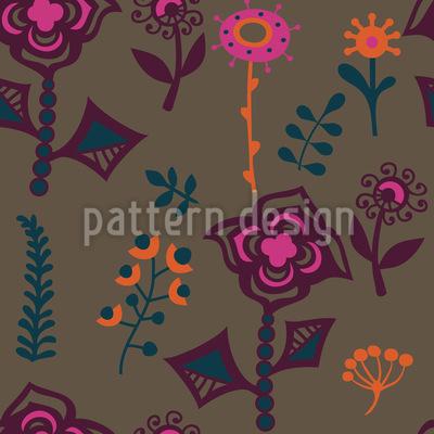 Die Blumen Von Kasachstan Musterdesign