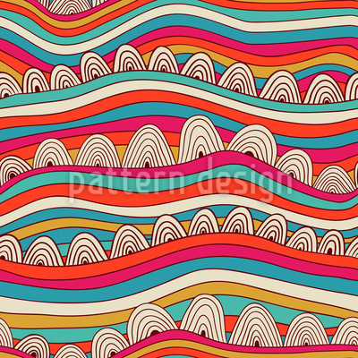 Wavy Dreamland Seamless Vector Pattern
