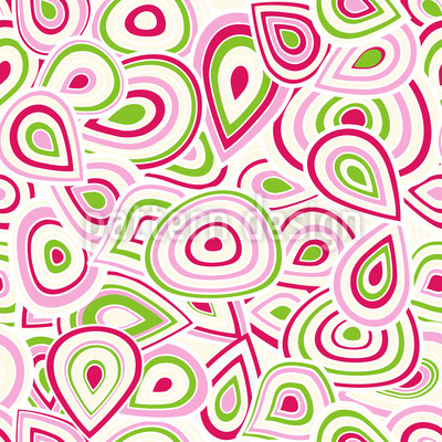 Drop And Round Vector Pattern
