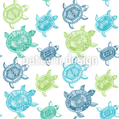 The Fantastic Journey Of The Sea Turtles Pattern Design
