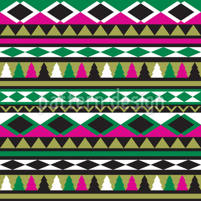 Ethno Christmas Seamless Pattern