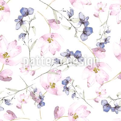 Blumen Feen Musterdesign