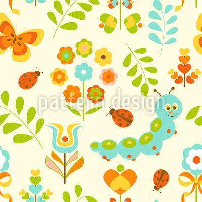 Caterpillar In The Wonderland Pattern Design