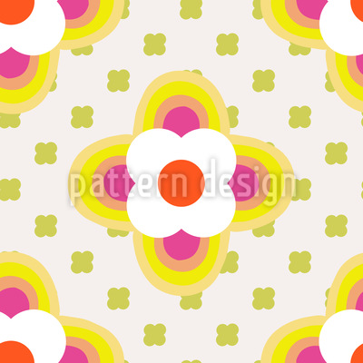 Flower Parade Repeating Pattern
