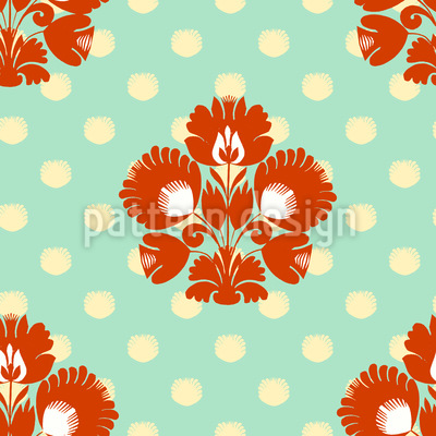 Polkadot Floral Vector Ornament