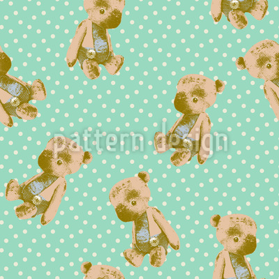 My First Teddy Seamless Vector Pattern