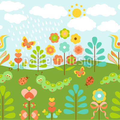 Niedlicher Sommerregen  Designmuster