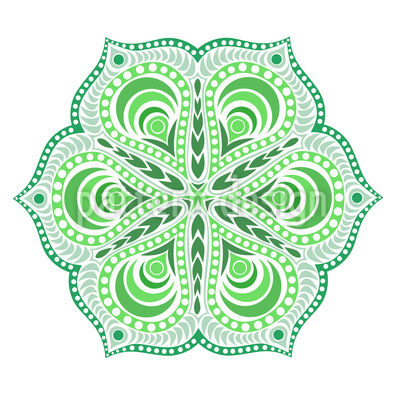 Glücksblume Nahtloses Muster