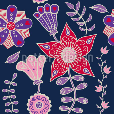Nachtblumen Aus Kutna Hora Musterdesign