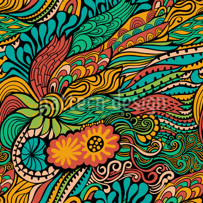 Sommerliche Drachen Fantasien Vektor Muster