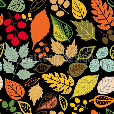 In The Leaf Museum  Repeat Pattern
