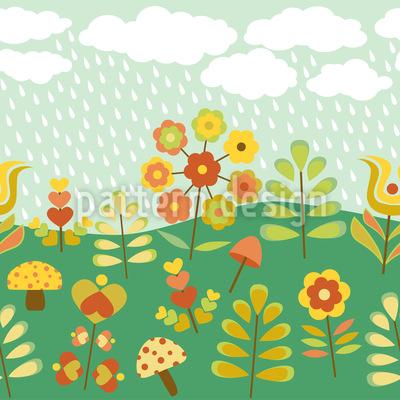 Spätsommer Regen Musterdesign