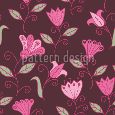 Fairytale Magic Flowers Seamless Pattern