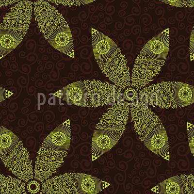 Herbstliche Blumenbewegung Nahtloses Vektor Muster