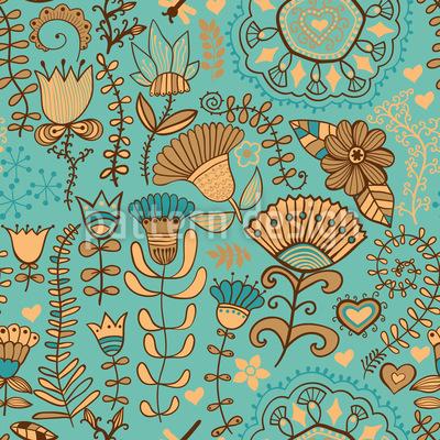 Flowers In Bohemia Pattern Design