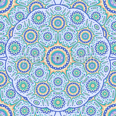 Geometrisches Mandala Vektor Ornament