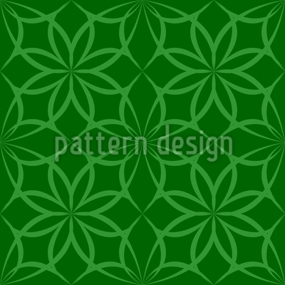 Gothic Wood Flowers Seamless Pattern