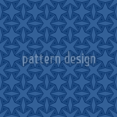 Geometrische Sternen Nacht Muster Design