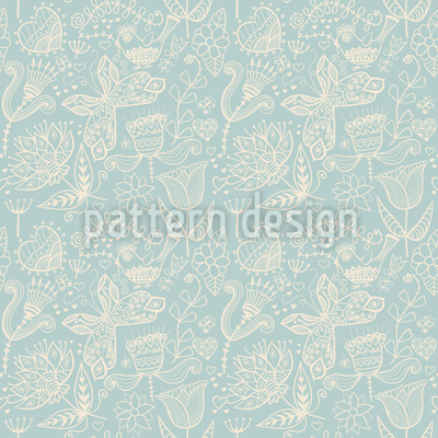 Winter Garden Nostalgia Pattern Design