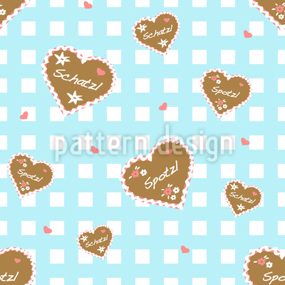 Oktoberfest Hearts Vector Ornament