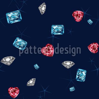 Funkel Diamanten Nahtloses Vektor Muster