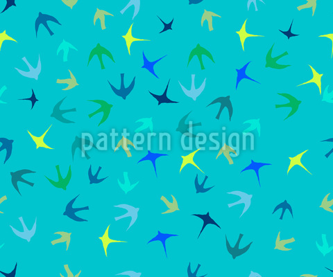 Vogelschwärme Muster Design