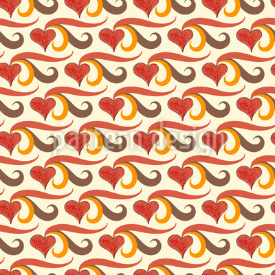I Bring My Heart To You Repeating Pattern