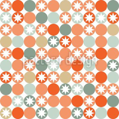 Herbstliches Sternen Bingo Nahtloses Vektor Muster