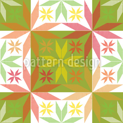 Scandinavian Stars In Spring Vector Pattern