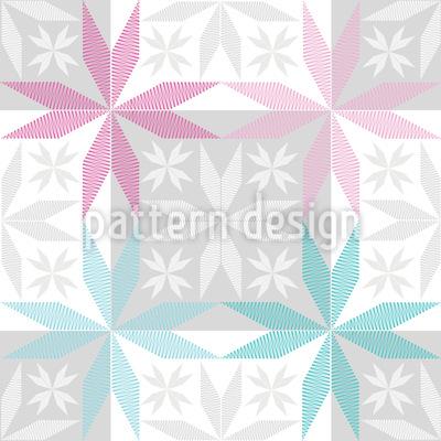 Scandinavian Star Frost Vector Ornament